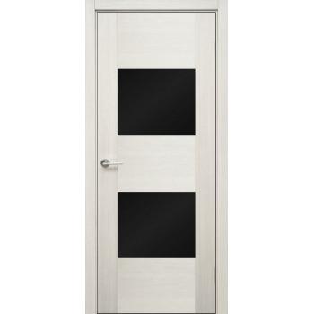 Межкомнатная дверь ДО Бруно (стекло AGS чёрное)
