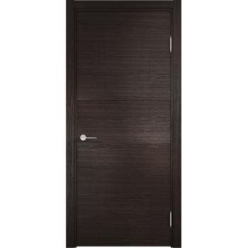 Межкомнатная дверь Турин 01 (дуб шоколад CPL)